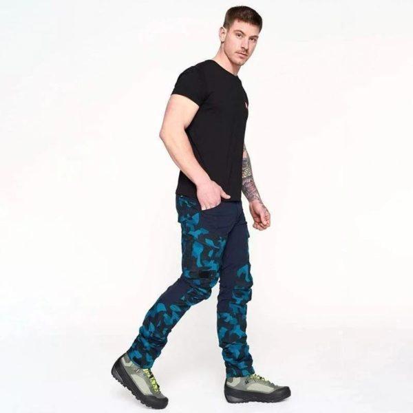 Pantalon Casual Camouflage: Respirant Et Confort Incroyable - Bleu / M(106.5 cm)
