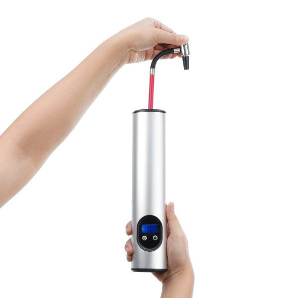 Mini Pompe Air Électrique : Le Plus Petit Et Le Plus Ergonomique - argente
