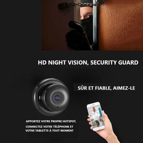 9 H5d491bc0f2124abda39549a88163ce7bF Mini Caméra De Surveillance: prend des photos et des vidéos instantanées