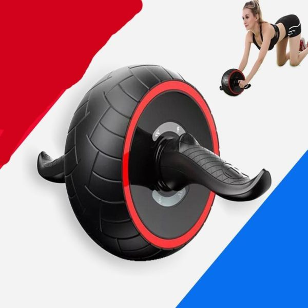 ABS Abdominal Roller Exercise Wheel Fitness Equipment Mute Roller For Arms Back Belly Core Trainer Body Exercice Au Rouleau Abdominal: Idéal Pour Brûler Les Calories en Excès