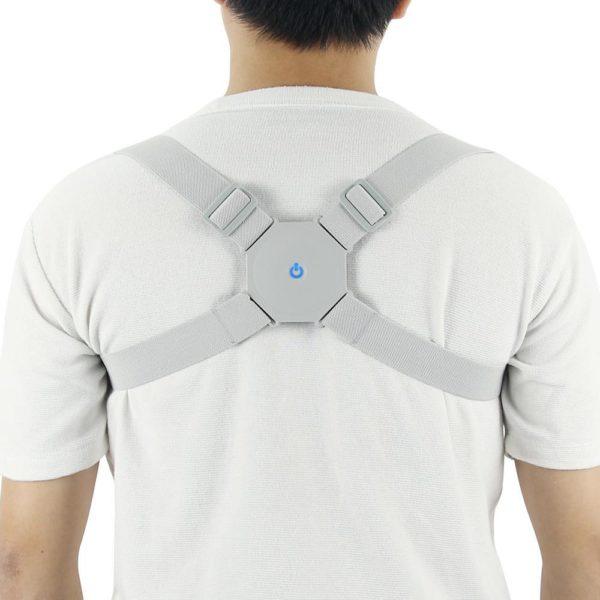 AdjustableIntelligentPostureTrainerSmartPostureCorrectorUpperBac 16 Correcteur de Posture Rappel automatiquement : Réduis Les Douleurs de Dos et de la Nuque