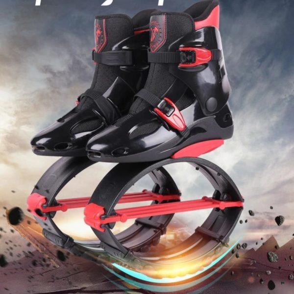 Kangourou Chaussures Sauteuses : Améliorer La Santé Cardiovasculaire - Noir-rouge-Taille 39-41 cm