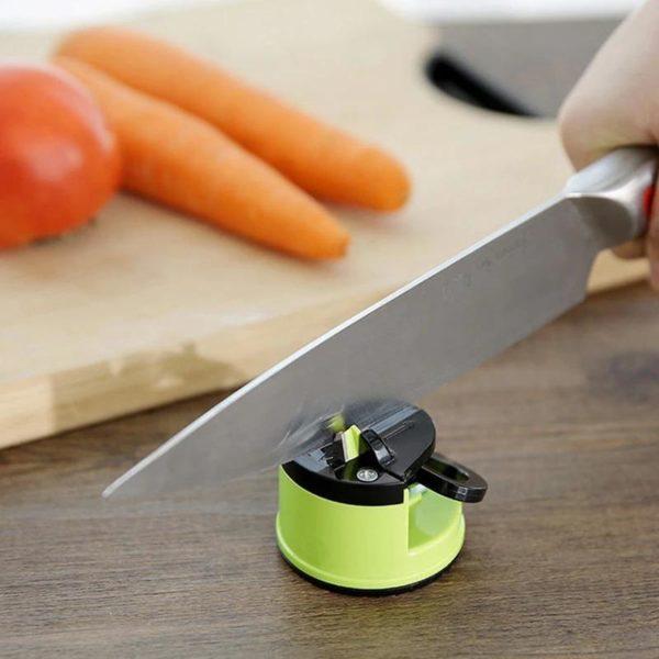 Affûteur De Couteaux Intelligent: Aiguisez Votre Couteau De Cuisine En Un Temps Record - Vert