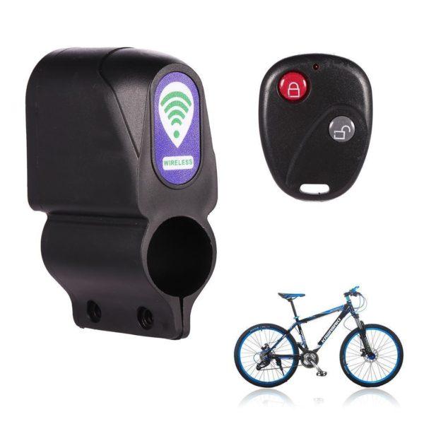Anti theft Bike Lock Cycling Security Lock Wireless Remote Control Vibration Alarm 110dB Bicycle Alarm bicycle Sans Fil Anti-Vol Alarme Pour Vélo Motocycle