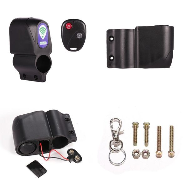 Anti theft Bike Lock Cycling Security Lock Wireless Remote Control Vibration Alarm 110dB Bicycle Alarm bicycle fb057943 464d 405e 86a1 0effb298ede2 Sans Fil Anti-Vol Alarme Pour Vélo Motocycle