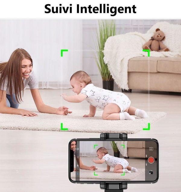 ApaiGenieAutoSmarttirSelfieStick360 objetsuivisupporttout e 15 Stabilisateur Smartphone: Prise de vue avec suivi intelligent