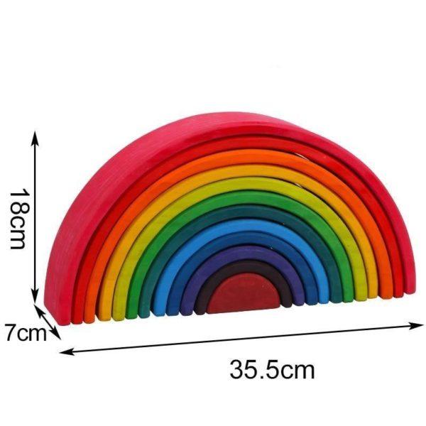 Baby Large Rainbow Stacker Wooden Toys For Kids Creative Rainbow Building Blocks Montessori Educational Toy Children 2000x 470f39f7 7927 4843 812d 2cbb1ccfb64d Blocs De Construction Arc-En-Ciel: Stimule L'imagination Et La Créativité
