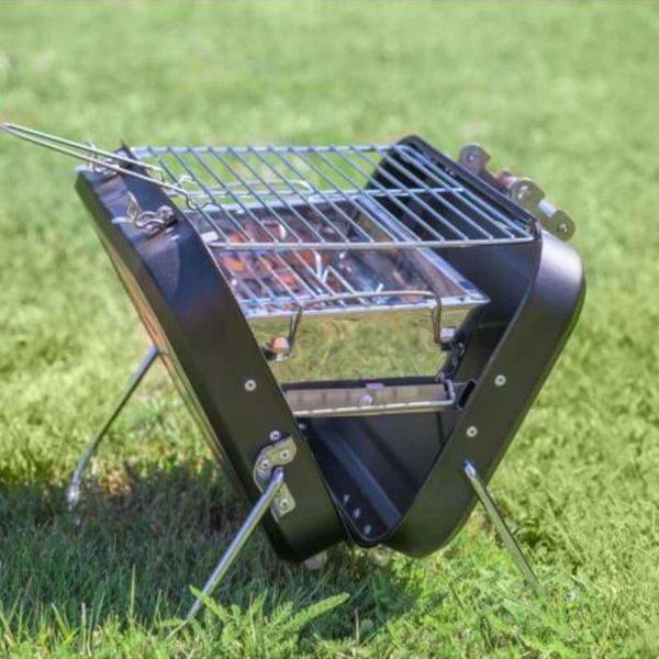 Barbecue Charbon De Bois : Valise Barbecue À Nomade Et Pliable - noir / 29 x 20 cm