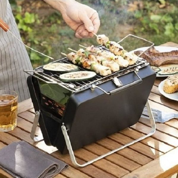 BarbecueCharbonDeBois 22 min Barbecue Charbon De Bois : Valise Barbecue À Nomade Et Pliable