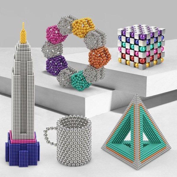 BatonsEtBallesMagnetiques 3 Bâtons Et Balles Magnétiques :Réalisez Des Centaines De Motifs Géométriques En 3d