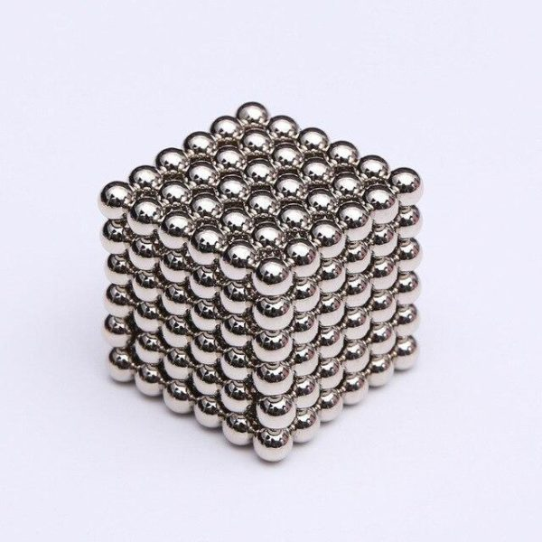 Bâtons Et Balles Magnétiques :Réalisez Des Centaines De Motifs Géométriques En 3d - Argent