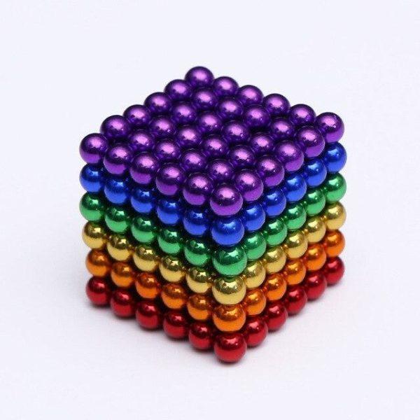 Bâtons Et Balles Magnétiques :Réalisez Des Centaines De Motifs Géométriques En 3d - Multicolore