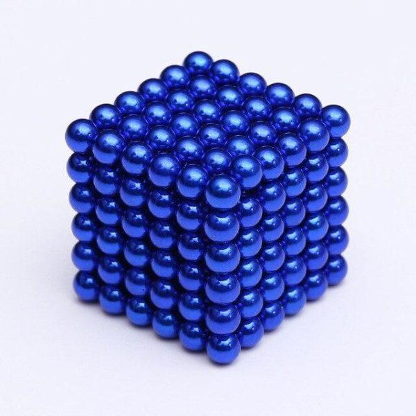 Bâtons Et Balles Magnétiques :Réalisez Des Centaines De Motifs Géométriques En 3d - Bleu