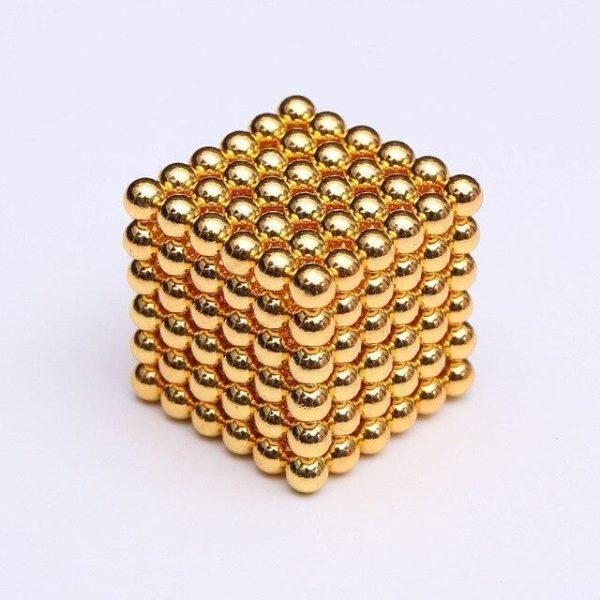 Bâtons Et Balles Magnétiques :Réalisez Des Centaines De Motifs Géométriques En 3d - Jaune