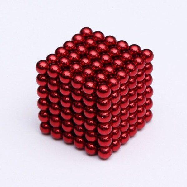 Bâtons Et Balles Magnétiques :Réalisez Des Centaines De Motifs Géométriques En 3d - Rouge