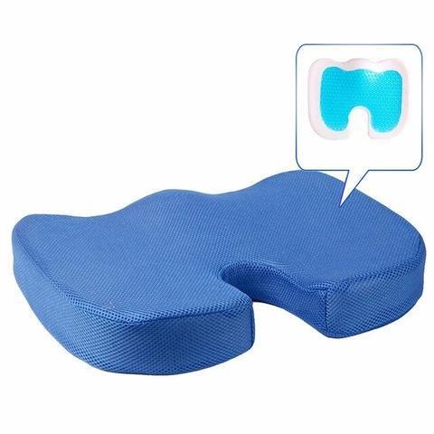 Blue Coussin D'assise Orthopédiqu : Soulage les Maux de Dos et Améliore la Circulation
