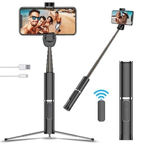 Bonola Portable int gr tr pied Selfie b ton cach support de t l phone Bluetooth e86295da ac5b 4462 8813 14fe54d6cc5b Perche À Selfie Bluetooth: Capturez Chaque Beau Moment