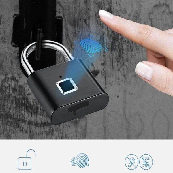 Cadenas Intelligent empreinte digitale Reconnaissance rapide et securisee 2 Cadenas Intelligent Empreinte Digitale : Reconnaissance Rapide et Sécurisée