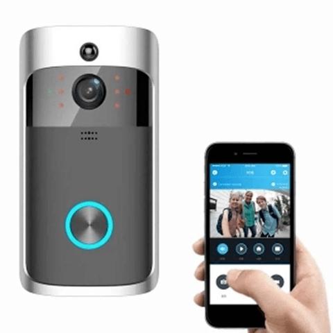 Caméra de Surveillance Sans Fil et Sonnette Connectée 720P - Sonnette vidéo + carillon