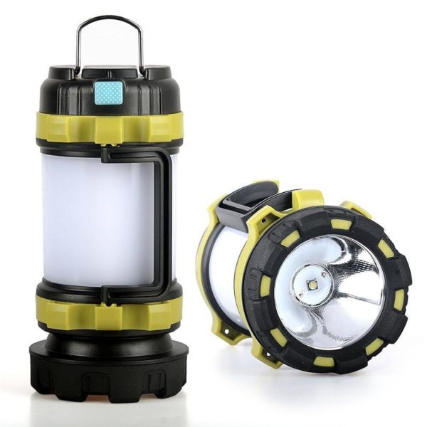 CampLampLEDCampingLightUSBRechargeableFlashlightDimmableSpotlight 30 Lampe de poche USB rechargeable et à intensité variable : Lanterne De Camping 3-en-1