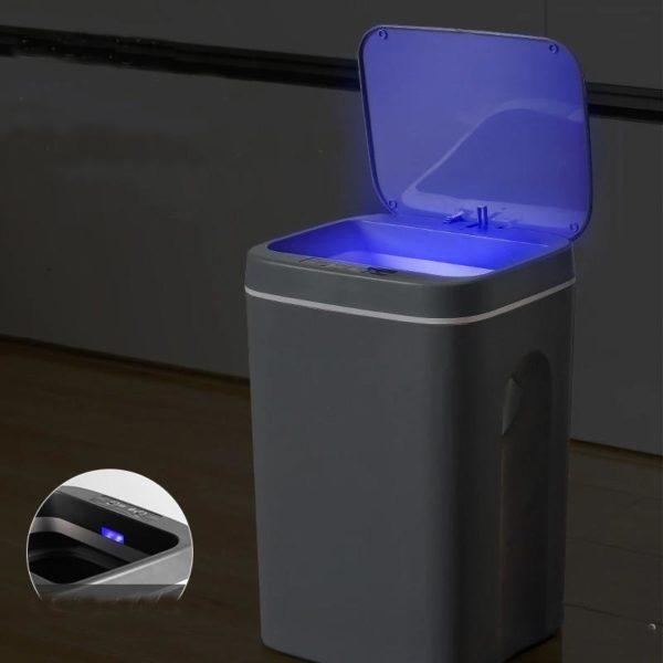 Capteurintelligentpoubelle 1 Capteur Intelligent Poubelle: Poubelle Inox Ouverture Automatique Et Système Anti Odeurs Bin
