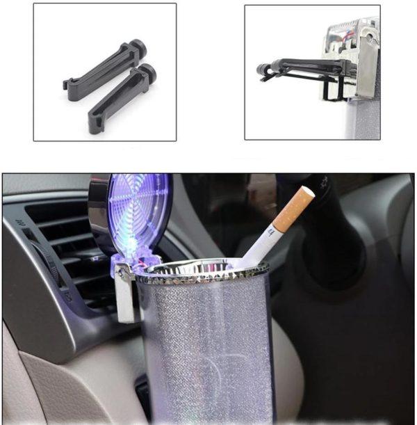 Cendrier color de Cigarette de voiture de support de verre cendrier de Cigarette d vent de LED Cendrier Lumineux Colorés De Voiture : Accessoire De Voiture Idéal Pour Les Fumeurs