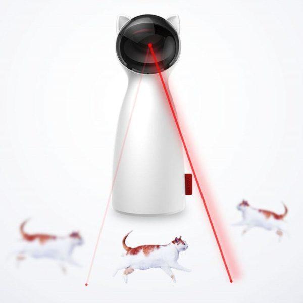 Chat interactif jouet LED Laser dr le jouet Auto rotation chat exercice formation divertissant jouet multi Jouet Laser Interactif Pour Chat: Allumez-Le Et Regardez Votre Chat Aller À La Chasse Au Rayon Laser