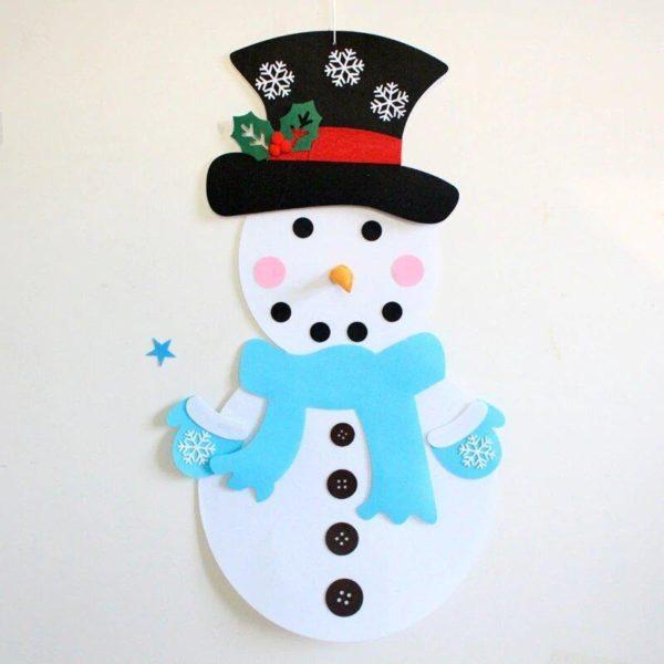 ChristmasTree12 Arbre de Noël pour Enfants : Ornements Colorés Détachables et Feutre Matériel