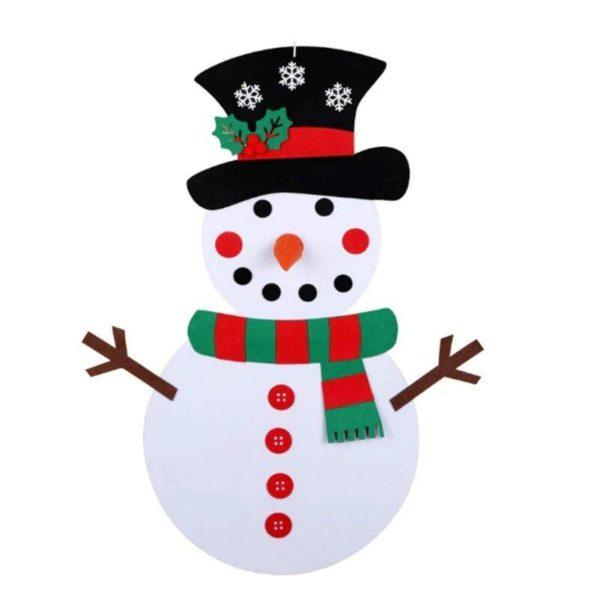 ChristmasTree13 Arbre de Noël pour Enfants : Ornements Colorés Détachables et Feutre Matériel