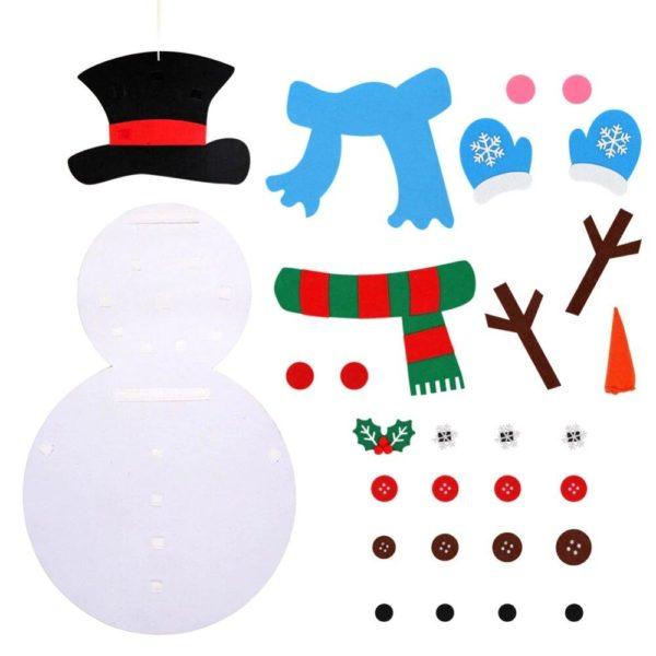 ChristmasTree15 Arbre de Noël pour Enfants : Ornements Colorés Détachables et Feutre Matériel
