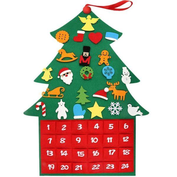 Arbre de Noël pour Enfants : Ornements Colorés Détachables et Feutre Matériel - MODÈLE 2