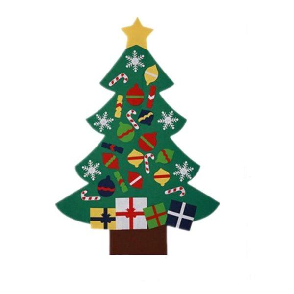Arbre de Noël pour Enfants : Ornements Colorés Détachables et Feutre Matériel - MODÈLE 3