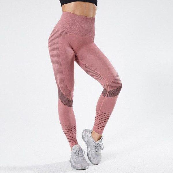Collants femme Leggings Sport femmes v tement de Fitness pour femmes v tements de Sport pantalons.jpg 640x640 5406e18c d991 4ae1 b154 5de6ab3089fa Leggings De Fitness: Legging D'entraînement Femme Sexy Respirant Taille Haute