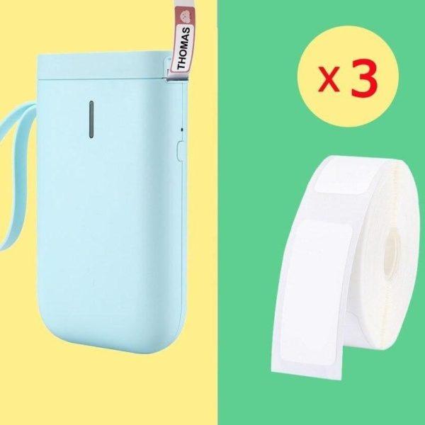 Imprimante D'étiquette Thermique Et Bluetooth: Etiquettez Et Organisez Votre Quotidien - Verte / 3 Rouleaux De Papier