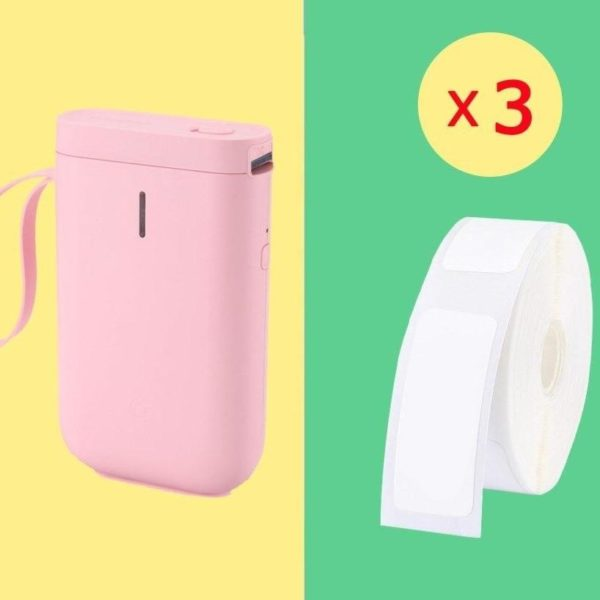 Imprimante D'étiquette Thermique Et Bluetooth: Etiquettez Et Organisez Votre Quotidien - Rose / 3 Rouleaux De Papier