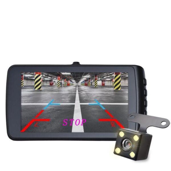 Caméra Enregistreur Vidéo HD Pour Voiture : 1296P HD Dual Lens Avec Enregistrement En Boucle - Avec Caméra Arrière / 32 Go