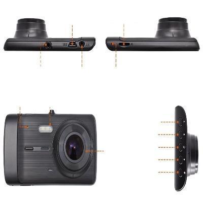 Deelife DashCamCarDVRCamera FullHD1080PVideoRecorderPlayer AutoDash 33 Caméra Enregistreur Vidéo HD Pour Voiture : 1296P HD Dual Lens Avec Enregistrement En Boucle