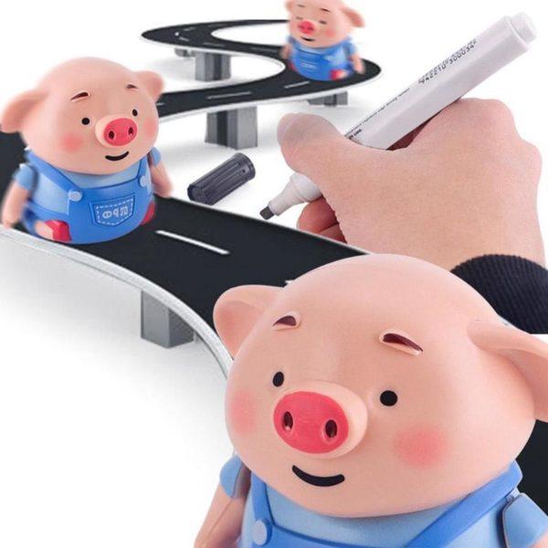 Dessiner ligne talon cochon stylo inductif jouets l gers et d licats suivre Robot musique Stylo Créatif Éducatif: Favorise La Pensée Créatrice Et Stimule L'imagination