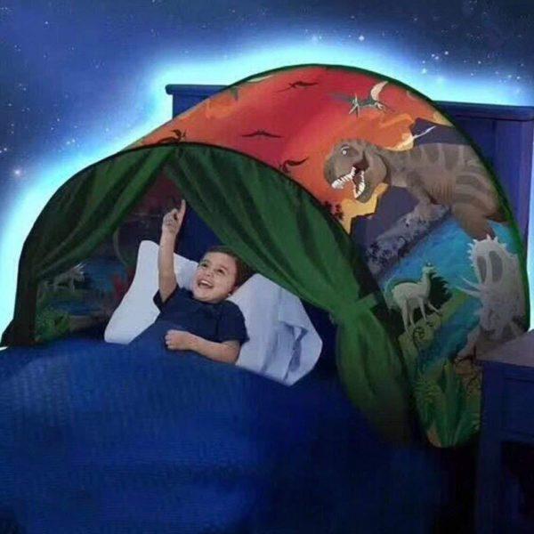 MyTente : Transforme le Lit de Votre Enfant en un Monde Féerique - dinosaure