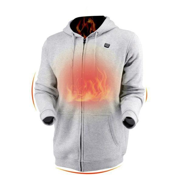 Sweat À Capuche Sport Chauffant : Gardez Votre Corps au Chaud et Confortable - Gris clair / XS(106 cm) / Sweat à capuche only