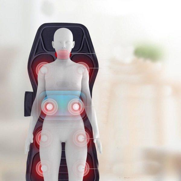 Elektrischeheizungstuhlmassage 3 Siège De Massage Vibrant Chauffant: Supprimez Vos Douleurs MusculairesEt Osseuses Avec Les Fonctions De Chauffag