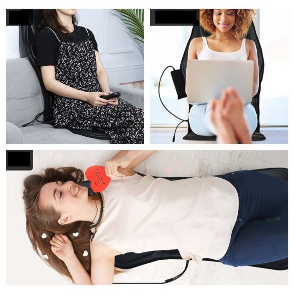 Elektrischeheizungstuhlmassage 4 Siège De Massage Vibrant Chauffant: Supprimez Vos Douleurs MusculairesEt Osseuses Avec Les Fonctions De Chauffag