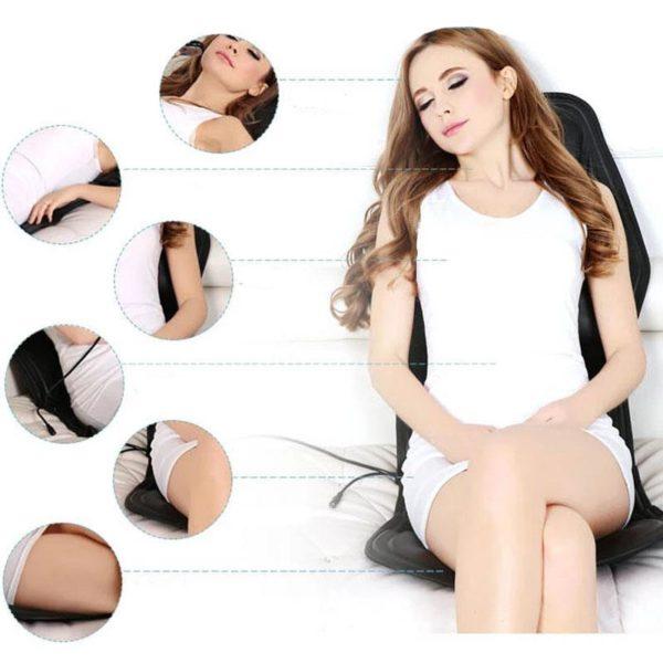 Elektrischeheizungstuhlmassage 5 Siège De Massage Vibrant Chauffant: Supprimez Vos Douleurs MusculairesEt Osseuses Avec Les Fonctions De Chauffag