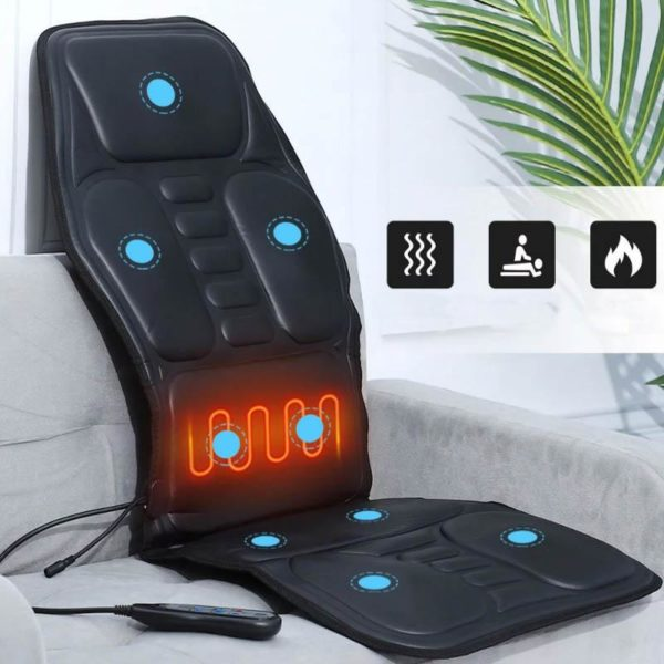 Elektrischeheizungstuhlmassage 6 Siège De Massage Vibrant Chauffant: Supprimez Vos Douleurs MusculairesEt Osseuses Avec Les Fonctions De Chauffag