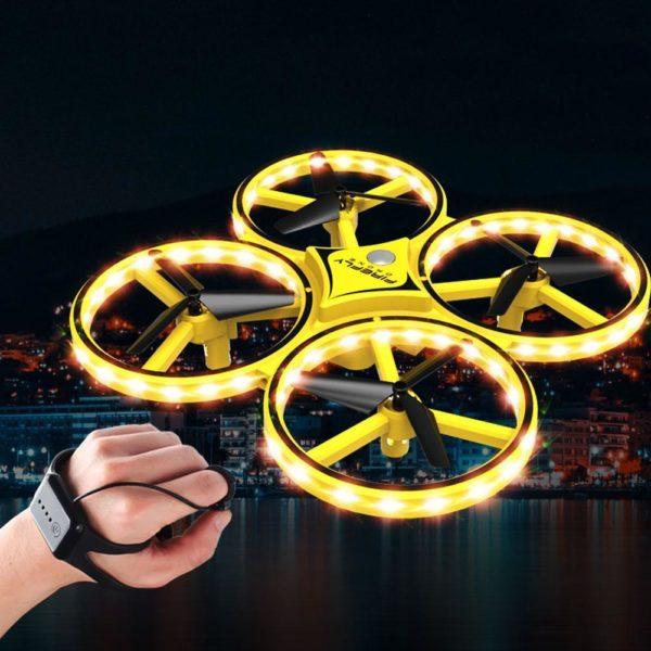 Enfants capteur de gravit geste RC Drone quadrirotor jouet RC avion gar ons jouets en plein Drone De Contrôle Des Gesture Par Gravité : Contrôlable Avec La Main