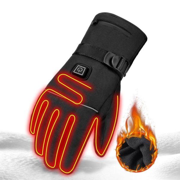 Gants de Moto HEROBIKER imperm ables chauff s Guantes Moto cran tactile piles Moto course gants Gants Chauffants : Parfaits Pour Toute Activité De Plein Air Et Par Temps Froid/1 paire