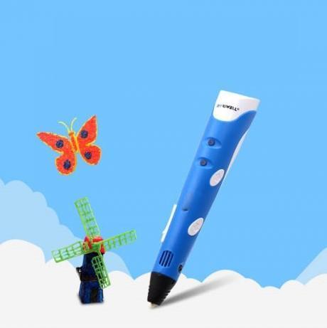 Stylo D'impression 3D: Dessiner Et Créer Des Créations 3D - Bleu / 3 pièces