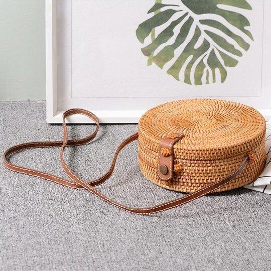 Sac Rond En Paille: Accessoire De Mode Indispensable Pour Égayer Votre Tenue - Style 2