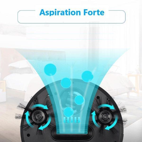 Home4in1RechargeableAutoCleaningRobotSmartSweepingRobotDirt 10 Robot Aspirateur Balayant : Aspirateur 4 En 1