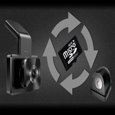 Caméra Enregistreur Vidéo HD Pour Voiture: Avec Vue Avant et Arrière et 1080p Vision Nocturne - Avec 16 GB carte